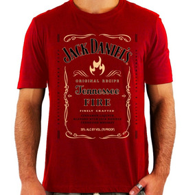 Camiseta Jack Daniels Fire - Whiskey - Rock - Nova