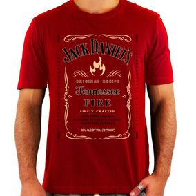Camiseta Jack Daniels Fire - Whiskey - Rock - Nova