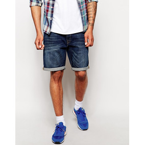 Shorts Jeans Denim Hombre New Look Londres Azul Medio Skinny