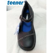 Teener Calzado Escolar Niña, Original, 100% Cuero