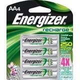 Pilas Baterias Recargables Energizer Aa X 4, 1000 Ciclos