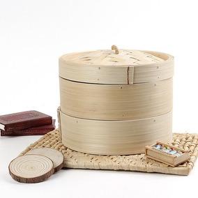 Vaporeira Panela De Bambu Para Cozimento A Vapor Importada