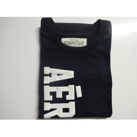 Camiseta Aeropostale Original Azul Escuro (m) - Pronta Entr.