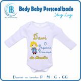 Body Infantil Bebê Personalizado O Pequeno Príncipe Com Nome