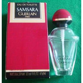 A6758 Vidro De Perfume Samsara De Guerlain Vazio Para Cole