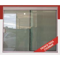 Porta Balcão 2f Vidro Temperado Tipo Blindex Br 2000x2100