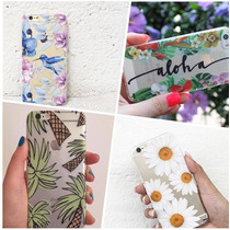 Funda Tpu Flores Naturaleza Palmeras Iphone 5 6 6s Plus
