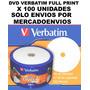 Dvd Verbatim Printable X 100 ( Solo Envios X Mercadoenvios )