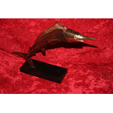 Antiguo Pez Espada Escultor Ji Me Bronce Baquelita