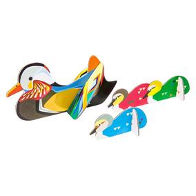 Patos Mandarines Armables 3d Decorativos Diseño Design Nuevo