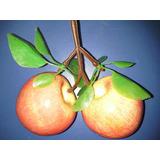 Frutas Decoracion Centro De Mesa Ramillete X 2 Manzana Roja
