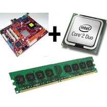 Kit Placa-mãe Lga 775 Ddr2 + Core2duo Barato!!!