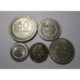 5 Moneda Colombia 10 20 50 Centavos Antigua Lote C7
