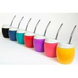 Mate Silicona Color + Bombilla Tienda Puro Diseño