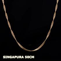 Singapura - Corrente Em Ouro 18k - 750 - 3,10gr - 50cm