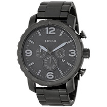 Relógio Fossil Masculino Jr1401 Metal Preto Caixa Grande