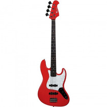 Baixo Eagle Sjb-005 Rd Vermelho Jazz Bass - Refinado