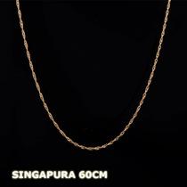 Singapura - Corrente Em Ouro 18k - 750 - 1,10gr - 60cm