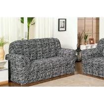 6 Capa Para Sofa 2x3 Estampada 21 Elastico - Nanda Enxovais