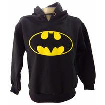 Blusa Moletom Infantil Batman Liga Justiça Super Heróis