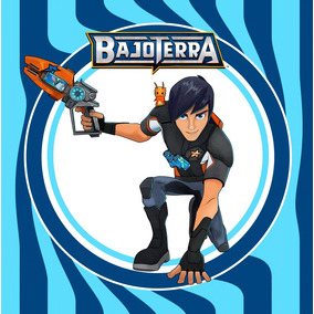 Kit Imprimible Bajoterra Slugterra Candy Bar Invitaciones