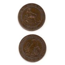Moneda España 2 Centimos 1870 Om Rara Y Antigua