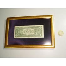 Antiguo Billete De Un Dolar Enmarcado