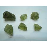 Roca Mineral Cristales Olivino Peridoto Crisotilo Aluvional
