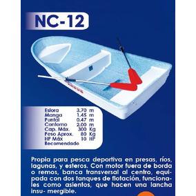 Lancha Fibra De Vidrio 12 Pies Nc-12   Argos