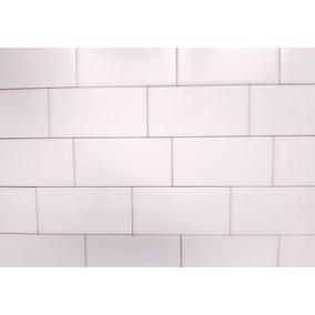 Azulejos 7.5 X 15 Cm Rectos Blancos Mate