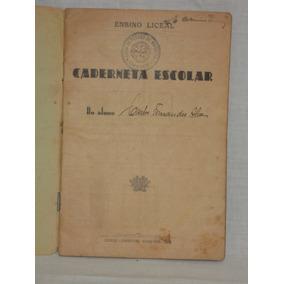 Antiga Caderneta Escolar