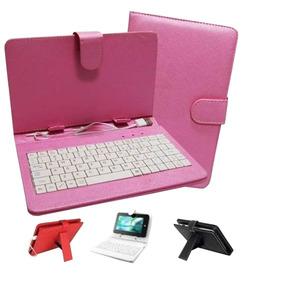 Capa Case Teclado Para Tablet 7´´ Várias Cores + Adaptadores