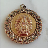 Fantastica Medalla Religiosa Virgen Maria Plata Oro Marquesi
