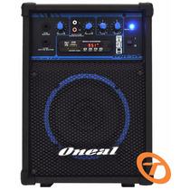 Caixa Amplificada Oneal Ocm190 Usb/fm/smd 40w Frete Grátis