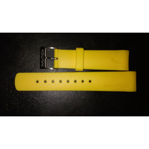 Extensible Nautica Amarillo De Caucho 22mm Envío Gratis