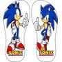Chinelos Personalizados Sonic The Hedgehog Games Exlusivo!