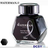 Vidro De Tinta Waterman Intense Black / Negra 50ml. Tinteiro
