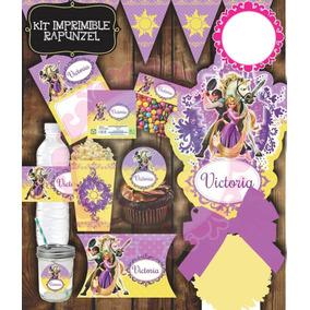 Kit Imprimible Etiquetas Baratas Rapunzel Mesa De Dulces