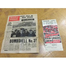 Jornal+programa Show Beatles Lennon Mccartney Harrison Ringo