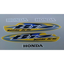 Kit Adesivos Honda Biz 125 Ks 2008 Amarela