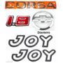 Emblemas Corsa Hatch 1.8 + Joy Preto + Gravata - 2003 À 2007