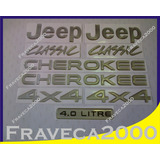 Kit Emblema Jeep Cherokee Classic 4x4 ( Completo )