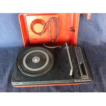 Vitrola Philips Portatil Vermelha Maleta Antiga