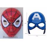 Mascara Capitão America + Homem Aranha Luz De Led