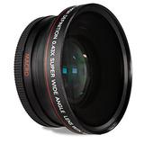 Los 52mm 0.43x Lente Gran Angular Y Macro Para Nikon D3200,