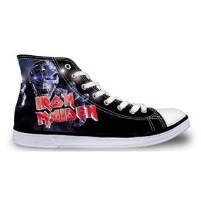 Tênis Iron Maiden Estilo All Star (não Pague O Frete !)