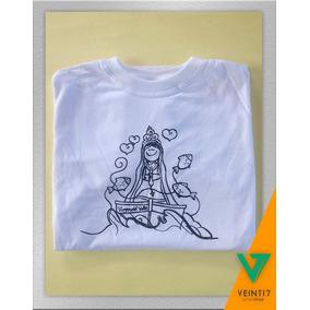 Virgen Del Valle Camisetas Estampado Serigraffia Algodón