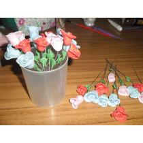 25 Flores Pimpollos Porcelana Fria Souvenir Cumpleaños Quinc