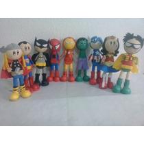 Fofuchos Super Heroes Hombre Araña Thor Capitan America Iron