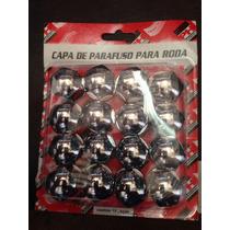 Jogo Kit 16 Capa Cromada Parafuso Chevete Omega Caravan 19mm